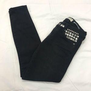 Elizabeth & James Studded Black Skinny Jeans